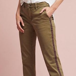 NWOT ANTHROPOLOGIE Striped Leg Chino Trousers